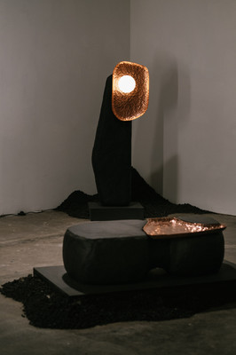 Against the Grain exhibition_Studio ThusThat_TC Floor Lamp 01 and TC Coffee Table 01_(c) G