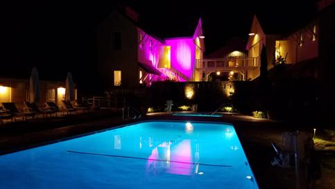 Atmospheric Lighting at the Farmhouse Inn , Sonoma County