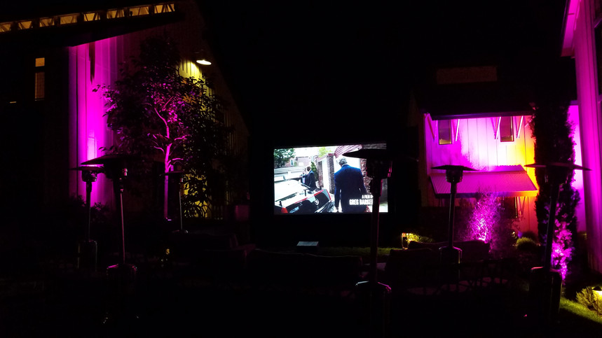 Outdoor Movie Night at the Farmhouse Inn Sonoma County, CA