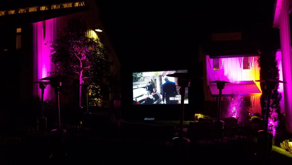 Outdoor Movie Night at the Farmhouse Inn Sonoma County, CA