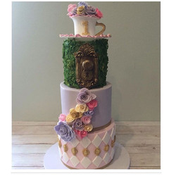 alice and wonderland inspired cake