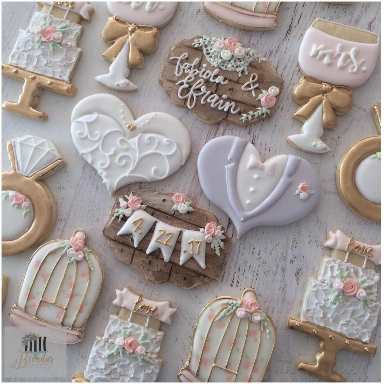 rustic wedding cookies
