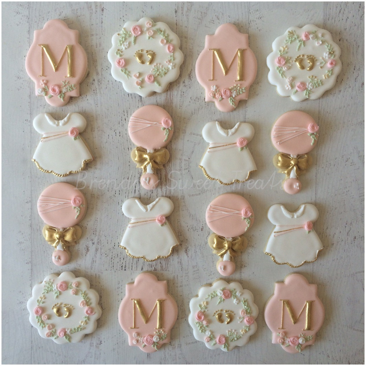 chic baby shower cookies
