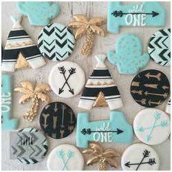 boho inspired cookies