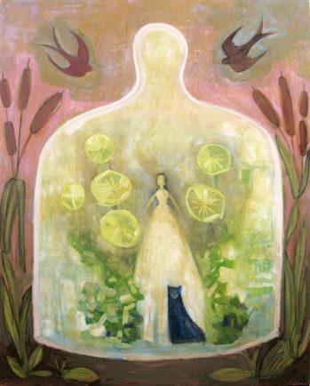 Inner Peace, 48_x50,_ oil and encaustic