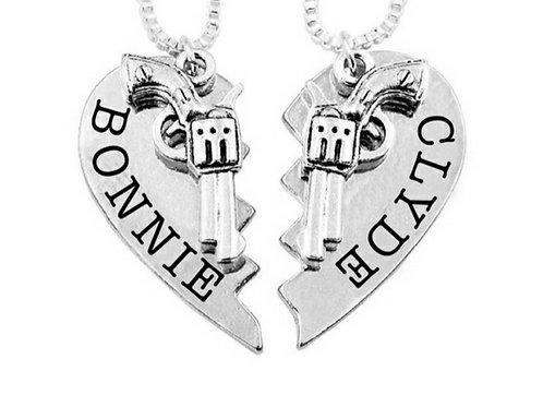 Bonnie Clyde Pendant Necklaces