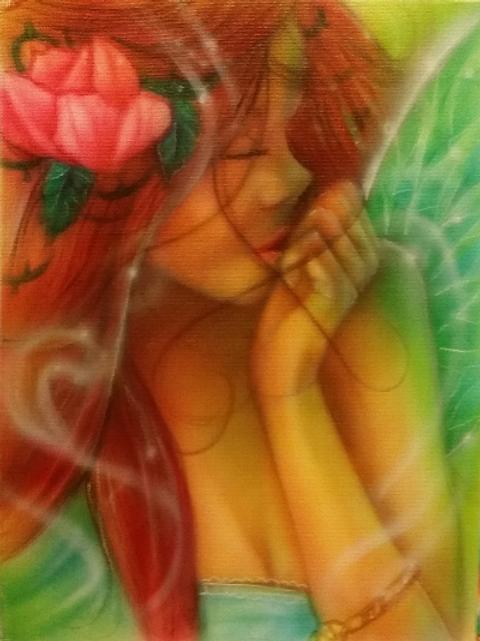 Flower Girl Air Brushed-Artist Sean S