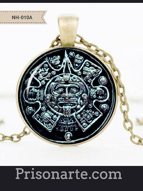Aztec Calendar Necklace