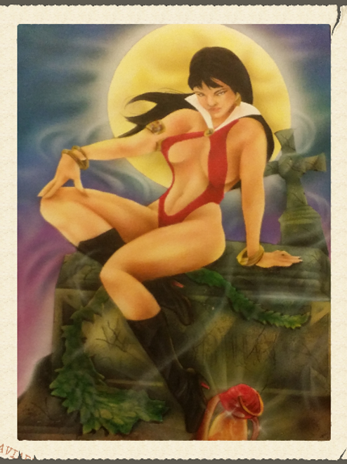 Moon Goddess Air Brushed-Artist Sean S