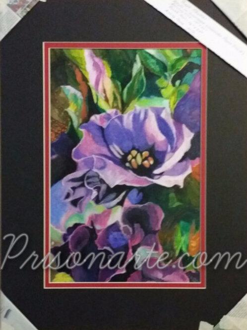 """Purple Flowers-Artist """"Darrel W"""""""