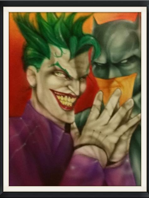 Batman & Joker Airbrushed-Artist Sean S