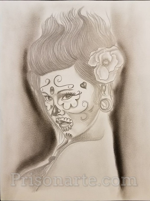 Day of the Dead Female by Mando