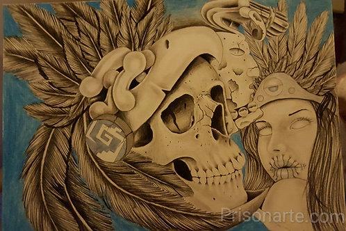 """PA126 - Mayan Art - Artist """"Che"""""""