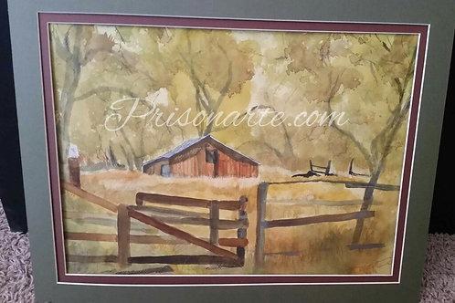 """Barn In Oak Grove - Artist """"Walker"""""""