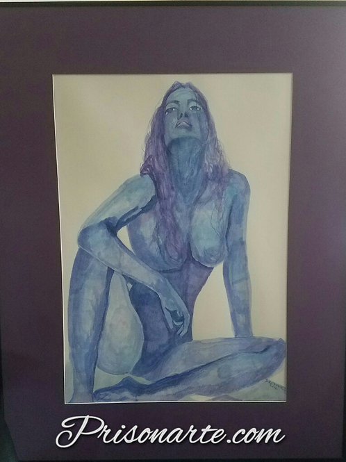 "Blue Lady- Artist ""Walker"""