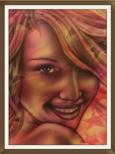 Star Girl Air Brushed-Artist Sean S