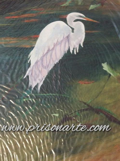 Egret on Pond - Artist Walker