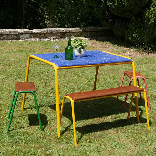 'Monty Table' Mustard Yellow - Recycled Plastic Top