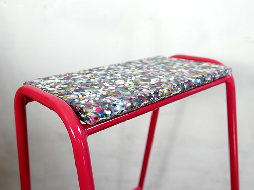 Pill Stool - 100% Recycled Cosmetic Bottle Seat - LIVING CORAL
