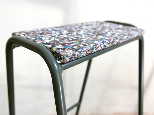 Pill Stool - 100% Recycled Cosmetic Bottle Seat -BATTLESHIP GREY