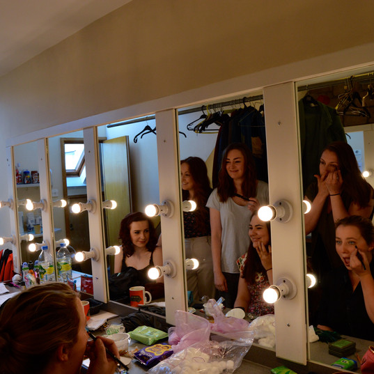 Evening of Shakespeare dressing room
