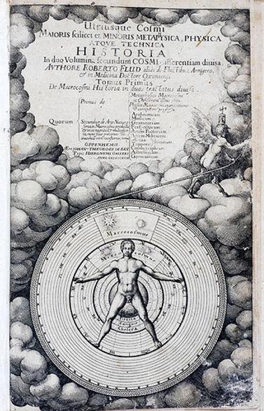 Astrologiens Mikrokosmos og Makrokosmos. Robert Fludd