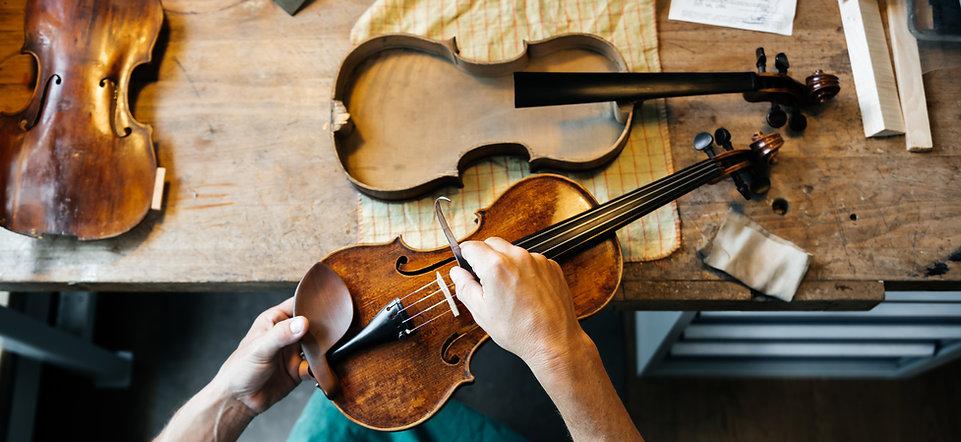 バイオリンを修正