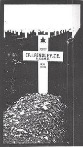 James Fendley original battlefield grave cross