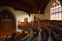 Pews of the balcony.