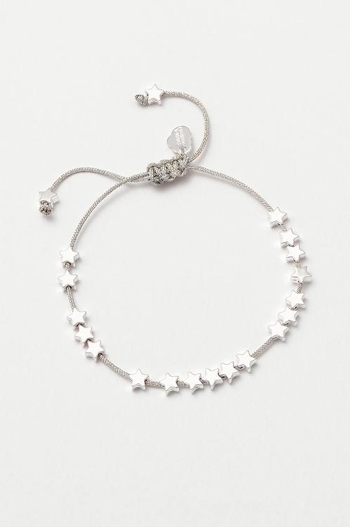 Estella Bartlett Stars So Bright Silver Plated Friendship Bracelet