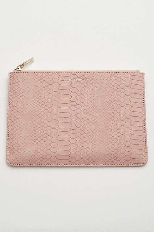 Estella Bartlett Blush Snake Print Medium Pouch
