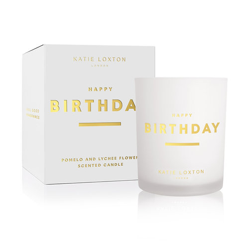 Katie Loxton Sentiment Candle 'Happy Birthday'
