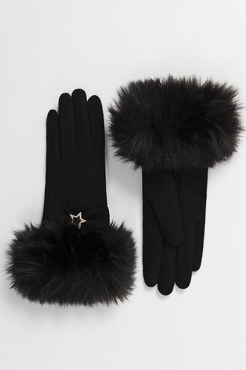 Rhea Black Gloves