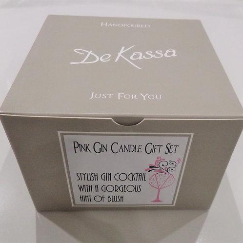De Kassa Pink Gin Candle Gift Set