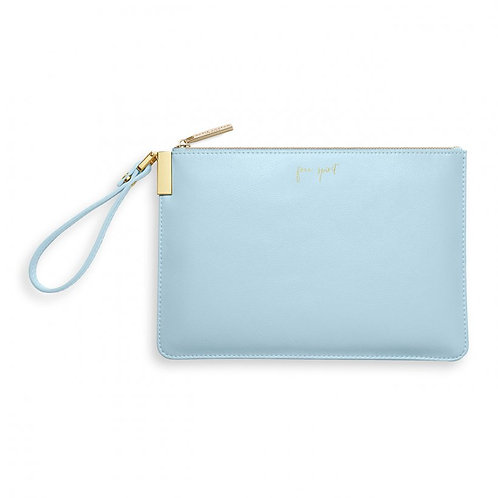 Katie Loxton Pale Blue Secret Message Pouch