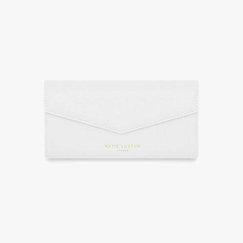 Katie Loxton White Esme 'Shop til you drop' Envelope Purse