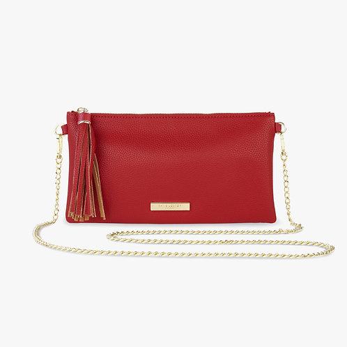 Katie Loxton Red  FreyaTassel Crosssbody Bag