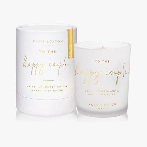 Katie Loxton Sentiment Candle 'To The Happy Couple'