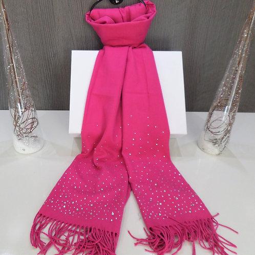 Fuschia Pink Tassel Wool Scarf