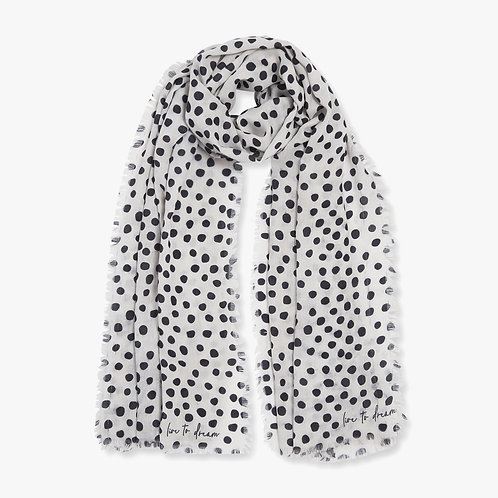 Katie Loxton Sentiment 'Live to Dream ' Navy and White Scarf