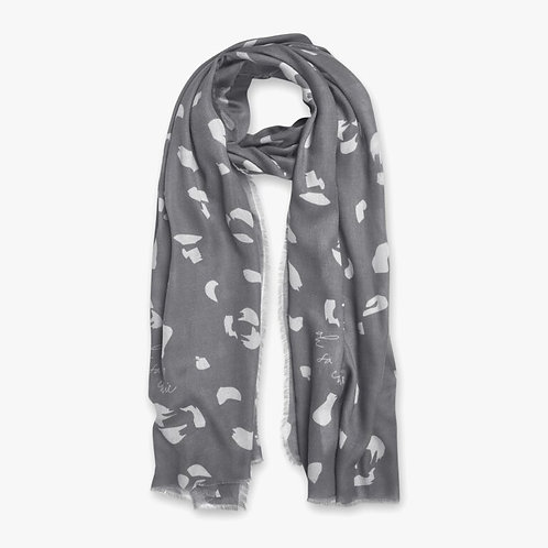 Katie Loxton Sentiment 'Oh So Chic'  Grey Scarf