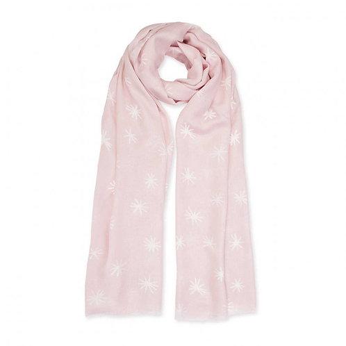 Katie Loxton Pink & White Scarf