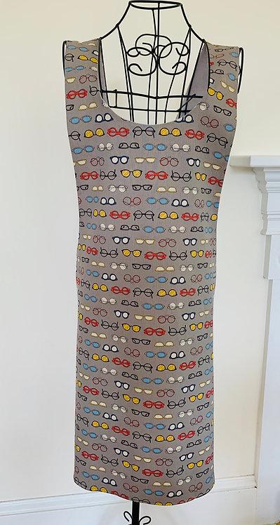 Patterned Linen Apron P16