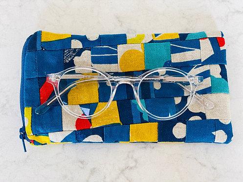 Pieced Japanese Linen Eyeglass Case EC6