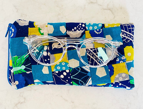 Pieced Japanese Linen Eyeglass Case EC4