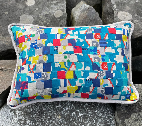 Pieced Japanese Linen Pillow PJL4