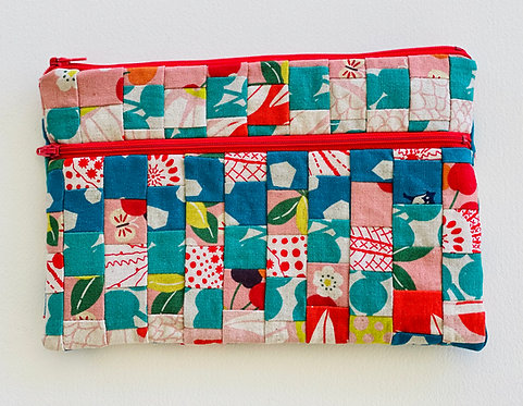 Large Pieced Zip Pouch 11