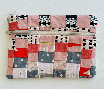 Medium Pieced Zip Pouch 19