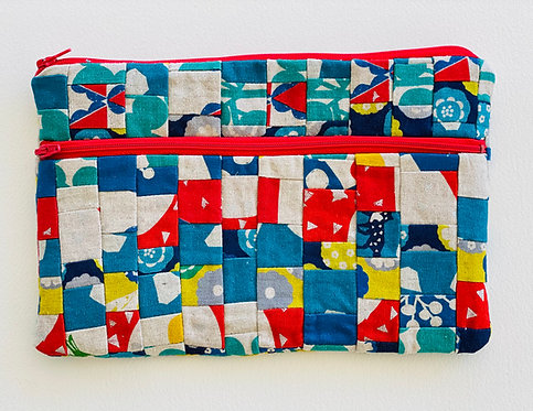 Large Pieced Zip Pouch 14