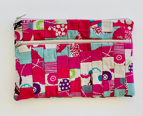 Large Pieced Zip Pouch 12